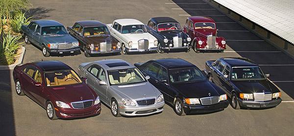 خودرو های قدیمی و خودروهای جدید مرسدس بنز