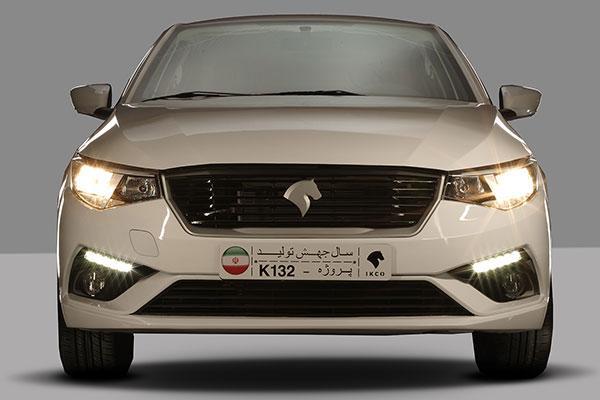 نمای تارا ایران خودرو از جلو